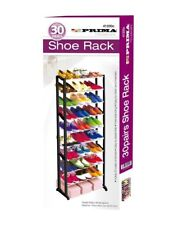 30 Pairs Shoes Storage Rack 10 Tier Layer Plastic Shoe Stand Organiser Black UK