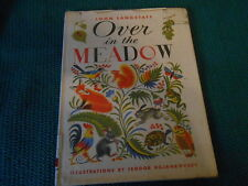 OVER IN THE MEADOW,  Langstaff / Rojankovsky old hardbound