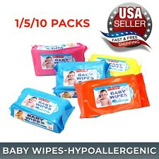 Baby Wipes Hypoallergenic Ultra Soft Diaper Wet Napkin Aloe Alcohol Free 5/10Qty