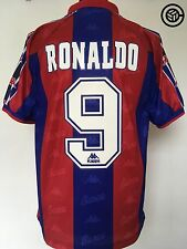 RONALDO #9 Barcelona Kappa Football Shirt Jersey 1996/97 (M) R9