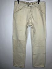 Evisu Racing Genes Beige Pants Jeans Tan Denim Vintage Street Wear Japan