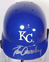 DAN QUISENBERRY KANSAS CITY ROYALS AUTOGRAPHED SIGNED MLB MINI HELMET & CASE COA