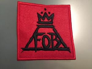 FALL OUT BOY - LOGO RED - Embroidered Iron On Patch 3.5""