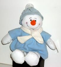 Christmas Winter Carolina Blue Plush Snowbella Snowman Fleece Coat / Hat Gloves