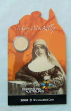 C12. 2008 MARY MacKILLOP $1 COIN ON CARD