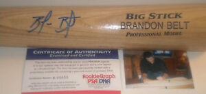 Brandon Belt San Francisco Giants ROOKIE Signed Bat PSA DNA Blonde
