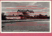 FREDERIKSHAVN FRYDENSTRAND SANATORIUM Ungelaufen schwarz-weiß 1940 TOP Dänemark