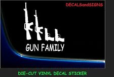 4 GUN FAMILY STICK FIGURES Vinyl Window Decal Sticker Pro Gun 2nd Amendment
