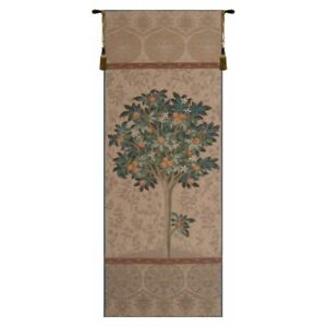 "Oranger Naturel French Tapestry Wall Hanging H 73"" x W 29"""