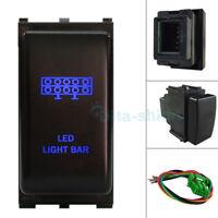 Blue LED LED LIGHT BAR Push Switch For Nissan Pathfinder R51 Patrol Navara