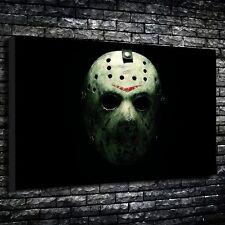 """Jason MASCHERA DA HOCKEY stampato tela A1.30""""x20"""" - Profondità 30mm TELAIO. Friday The 13th."""