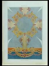 DECOR ART NOUVEAU, PLAFOND -1910- PHOTOLITHOGRAPHIE, COSTANTINO GRONDONA
