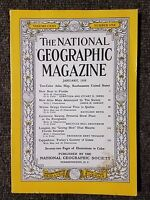 National Geographic Magazine January 1958 No map, Florida, Quebec, Everglades
