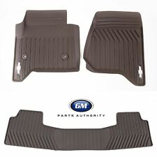 2015-2018 Tahoe Suburban Premium All Weather Front & 2nd Row Floor Mat Pkg Cocoa