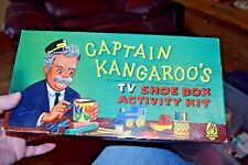 VINTAGE CAPTAIN KANGAROO'S TV SHOE BOX ACTIVITY KIT BOX W/ PAPER FIGURES HASBRO