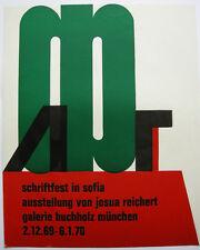 Josua Reichert (1937) Ausstellung Galerie Buchholz 1969 Orig Farbholzschnitt