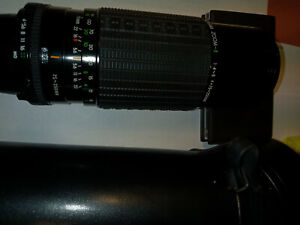 Sigma Zoom MD Lens, Like New, 75-250mm, bayonet mount with leather case