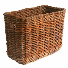 Tall Narrow Oblong Rattan Wicker Storage Basket