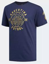 NWT Mens Adidas Argentina Futbol Tri-Blend Soccer T-Shirt