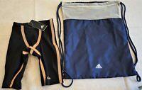 "Men's Adidas Adizero Freestyle Jammer Tech Suit Swimsuit EK1328 20"" Competitive"
