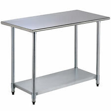 24 x 48 prep table commercial stainless steel work food kitchen restaurant - Kitchen Prep Table Stainless Steel