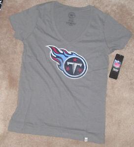 NEW 47 BRAND NFL Tennessee Titans Football T Shirt Women Ladies L Large NWT
