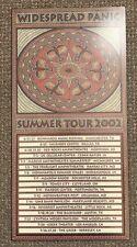 Widespread Panic Summer Tour 2002 Ultra Rare Concert Poster Bonnaroo & Red Rocks
