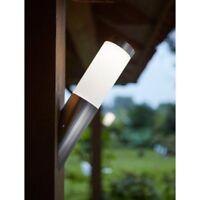 Luxform Idaho Solar LED Lights Angled Outdoor Garden Path Patio Wall Light Lamp