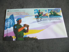 1 FDC ONU 1998 (2TIMBRES)1ER JOUR NEW YORK- 50 ANS MAINTIEN PAIX NATIONS UNIES