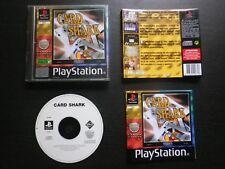 CARD SHARK : JEU Sony PLAYSTATION PS1 PS2 (cartes COMPLET envoi suivi)
