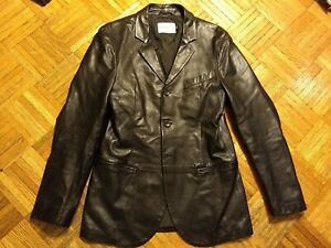 Emporio Armani leather blazer, made in Italy