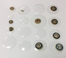 Lot Of 28 Pocket Watch Crystals New Old Stock Sizes 7 7/16  - 20 7/8