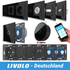 LIVOLO ZigBee WLAN Lichtschalter SmartHome Glas Touch Steckdosen uvm SCHWARZ -A
