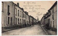 CPA 80 - CONTY (Somme) - Rue Verte (petite animation) - Ed. L. Caron