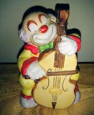 Clown Musician Dinner Bell (Bisque Porcelain)