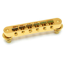 Gold Nashville Tune-O-Matic Bridge for USA Gibson® LP/SG/ES Guitar GB-0541-002