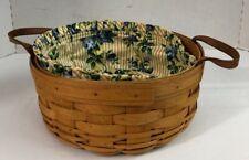 Longaberger Baskets Darning 1550 Handwoven 1997 Collectible Basket