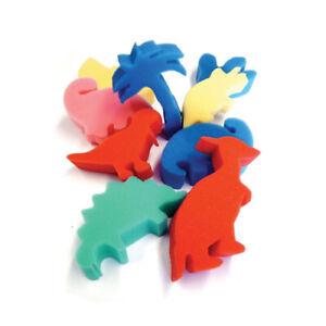 Major Brushes Art & Loisirs Créatifs Mousse Dinosaure Formes Pack De 9