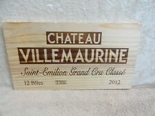 2012 CHATEAU VILLEMAURINE GRAND CRU CLASSE WINE PANEL