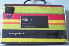 HILLCREST STRIPE 3 PC KING DUVET COVER SET 310TC COTTON -  NEW IN PACKAGE