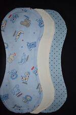 Blue Jungle Animal Burp Blankets, pack of 3 - handmade