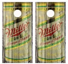 Vintage Miller High Life - Beer Can Barnwood Cornhole Board Wraps #2505