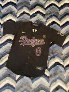 Kobe Bryant Los Angles Dodgers Jersey #8 & #24 In Black Yellow KB Patch IN HAND