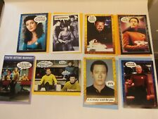 Lot of 8 Shoebox Greetings STAR TREK CARDS with ENVELOPES
