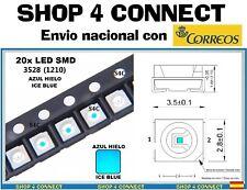 20 LED SMD AZUL HIELO ICE BLUE 3528 / 1210 SMT CAR automocion ARDUINO 3.5 x 2.8