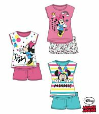Pyjama court MINNIE MOUSE disney fille t-shirt et short 100% coton NEUF 2-8 ans