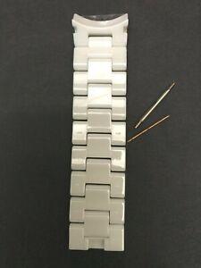 Armani Genuine  6 White Ceramic Watch links    AR1408, AR1403, AR1416, AR1415