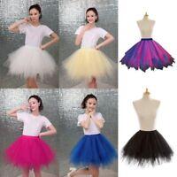 Women Adult Layers Tulle Tutu Skirt Pettiskirt Wedding Ballet Dress Party Dance