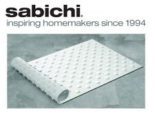 Sabichi 40x70cm Strong Suction Grip White Rubber Bath Mat, Non Slip Bubbles