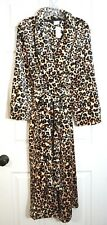 NWT $88 Soma Luxe Long Robe ~ Exotic Animal Light Nude / Black, Size S/M